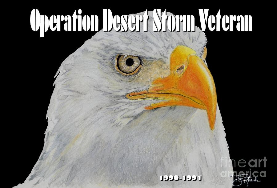 Desert Drawing - Desert Storm Eagle by Bill Richards