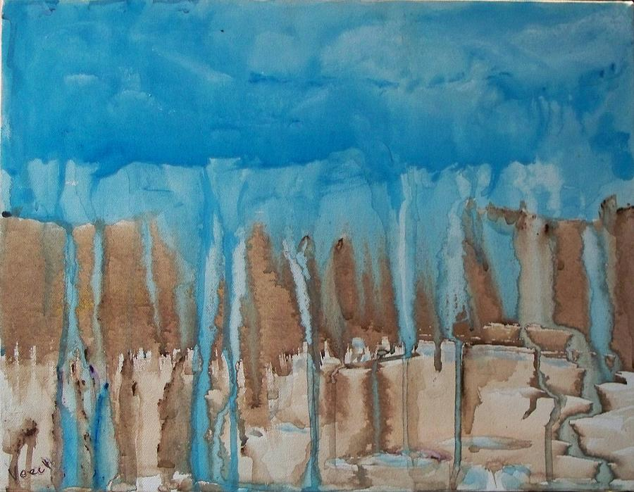 Abstract Painting - Desert Storm by Larry Verch