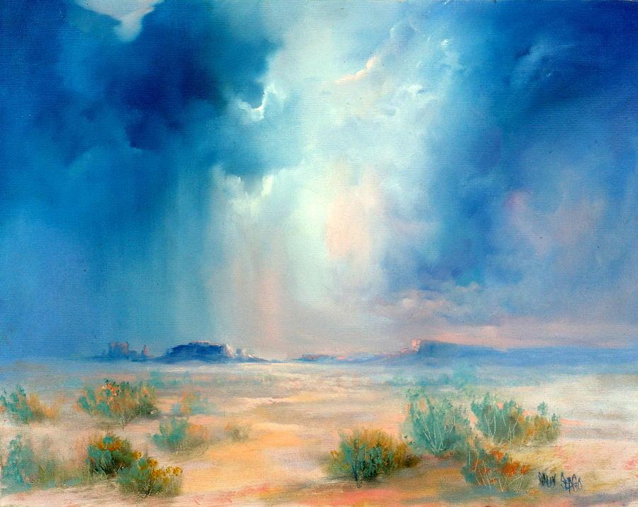 Desert Painting - Desert Storm by Sally Seago