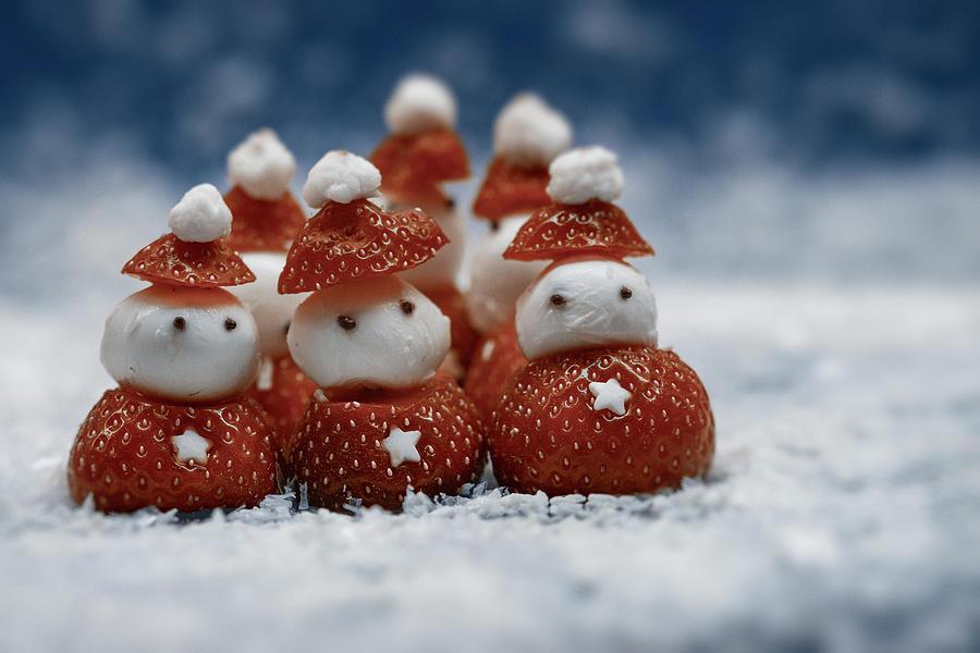 Desert Strawberry Santas Photograph