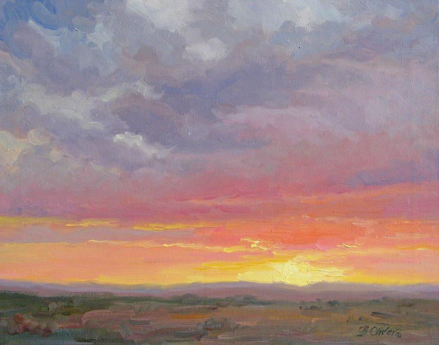 Sunset Painting - Desert Sundown by Bunny Oliver