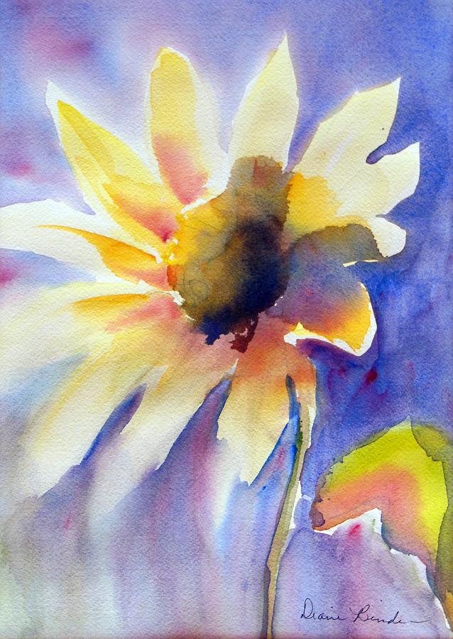 Desert Painting - Desert Sunflower by Diane Binder