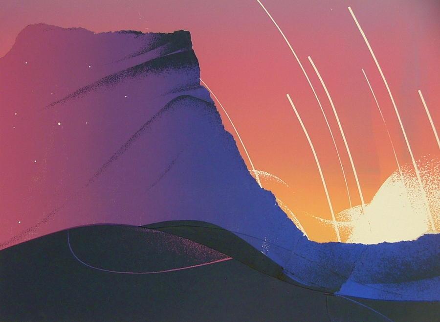 Landscape Painting - Desert Sunrise by Gary Kaemmer