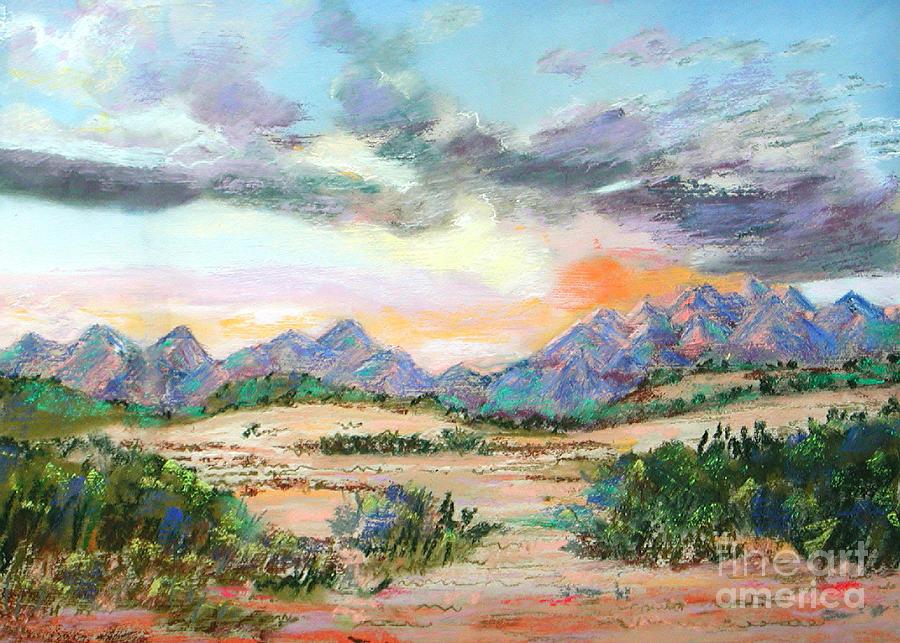 Sunrise Painting - Desert Sunrise by Lucinda  Hansen