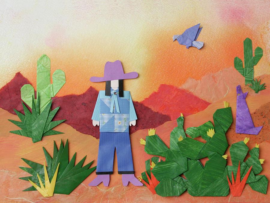Desert Mixed Media - Desert Sunrise By Mary Ellen Palmeri by Lyric Artists