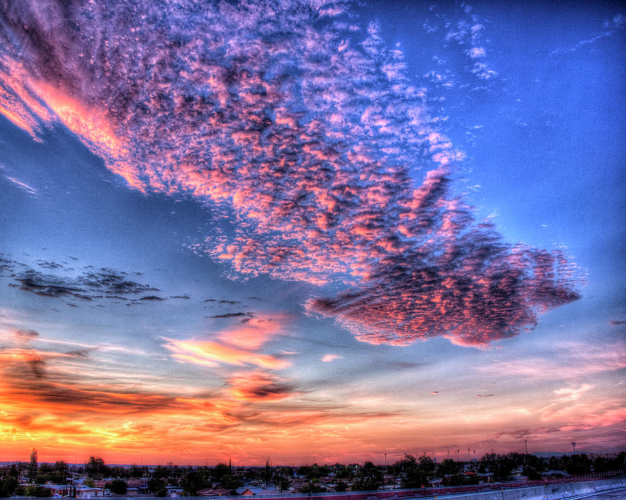 Colored Photograph - Desert Sunset 2 by Darrell Mcgahhey