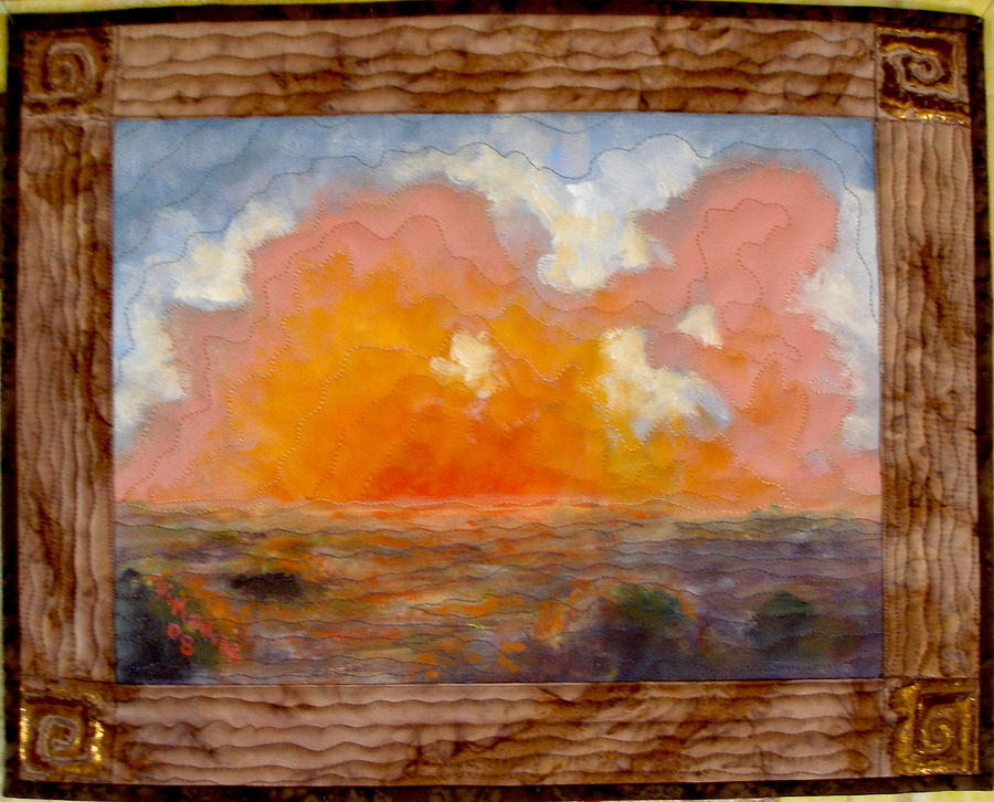 Realism Mixed Media - Desert Sunset by Diane and Donelli  DiMaria
