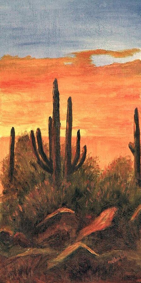 Sunset Painting - Desert Sunset I by Merle Blair