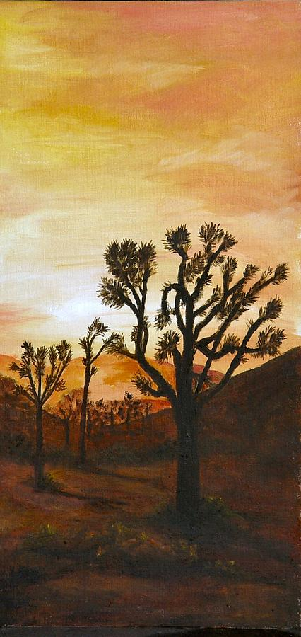 Sunset Painting - Desert Sunset II by Merle Blair