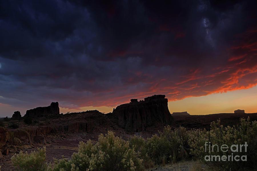 Sunset Photograph - Desert Sunset by Rick Mann