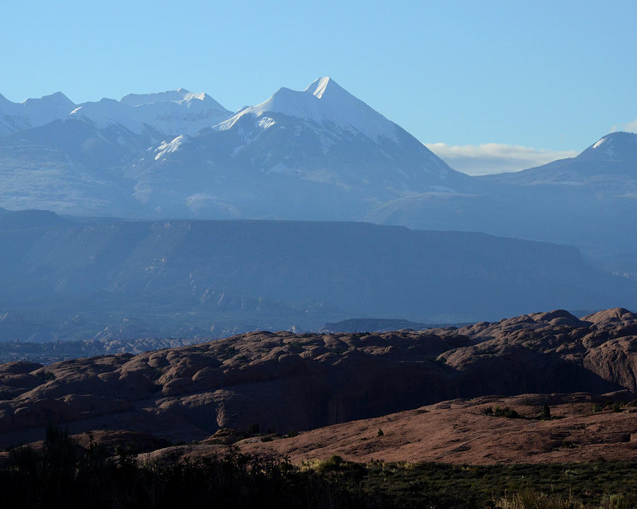 Mountains Photograph - Desert To Mountains by Pamela Peters
