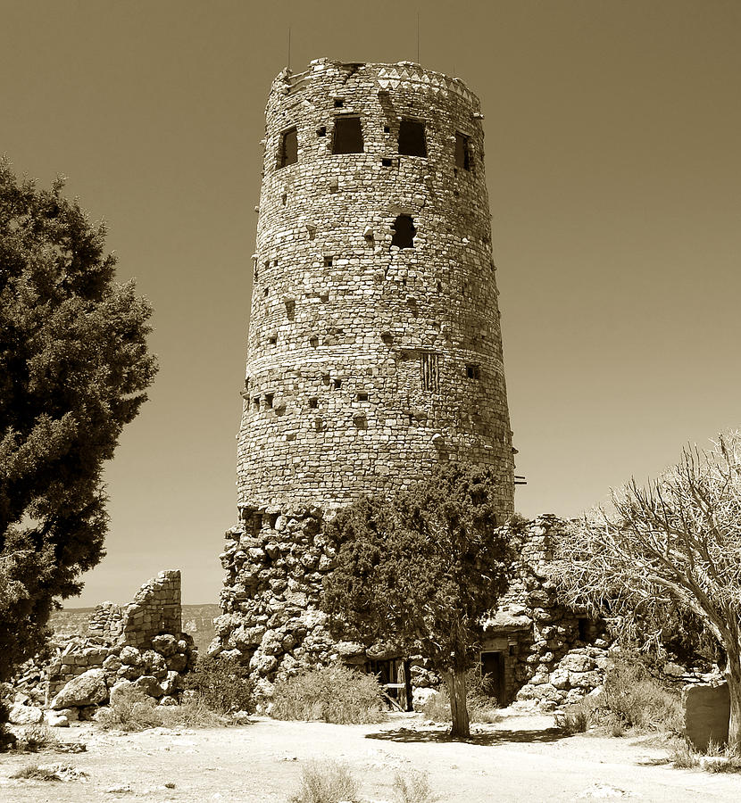 Native American Architecture Photograph - Desert Tower Work Number 2 by David Lee Thompson