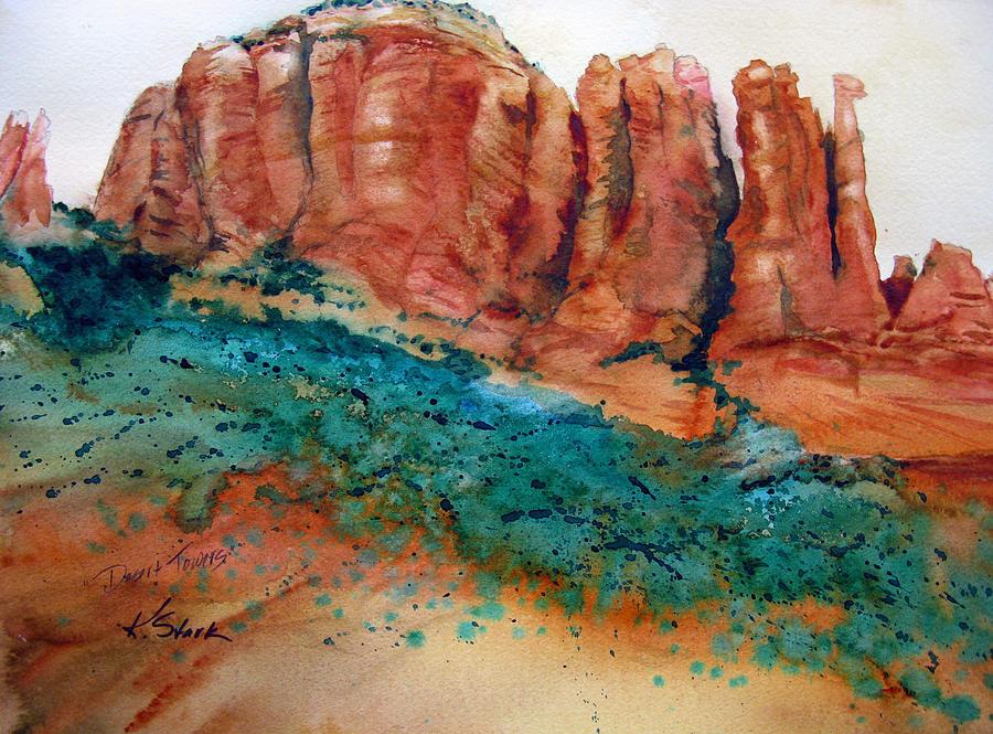 Rock Painting - Desert Towers by Karen Stark