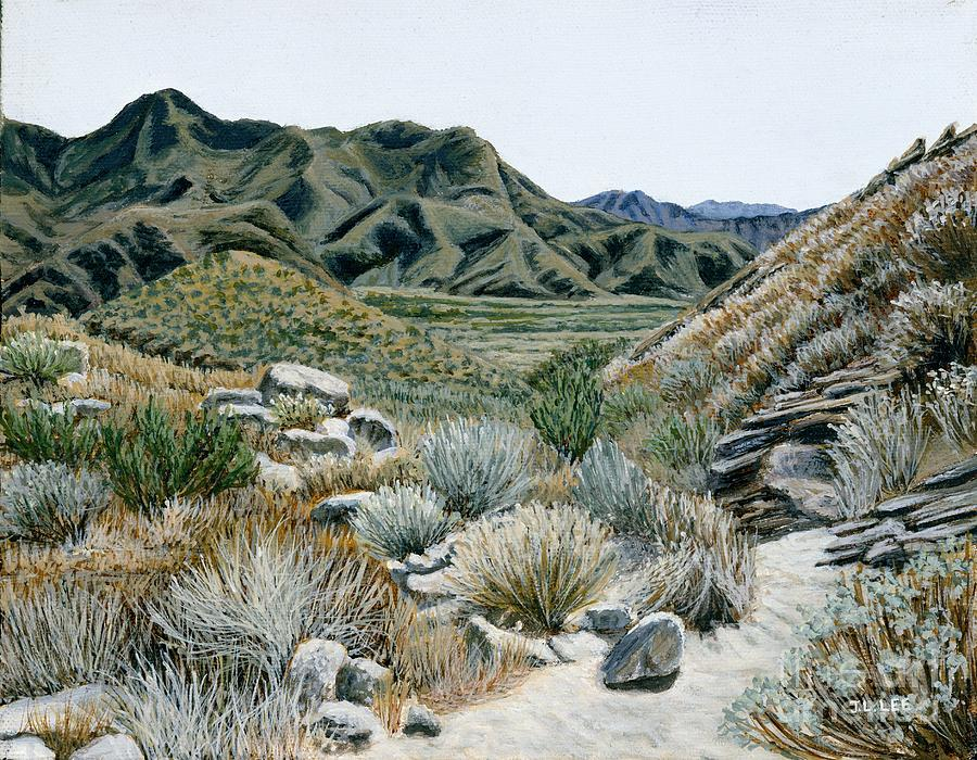 Landscape Painting Painting - Desert Trail by Jiji Lee