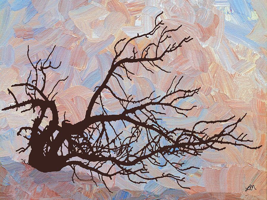 Abstract Digital Art - Desert Tree Branch by Linda Mears
