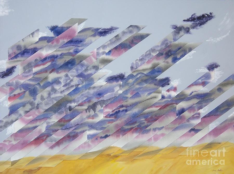 Sky Painting - Desert Under Storm by Jeni Bate