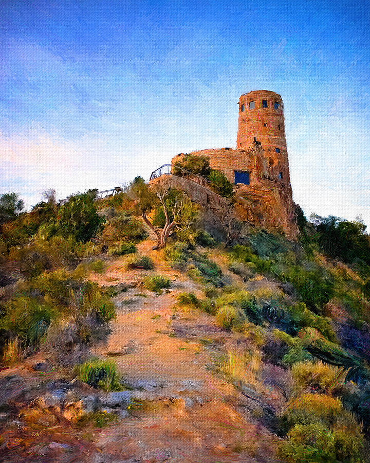 Desert View Watchtower Two Painting