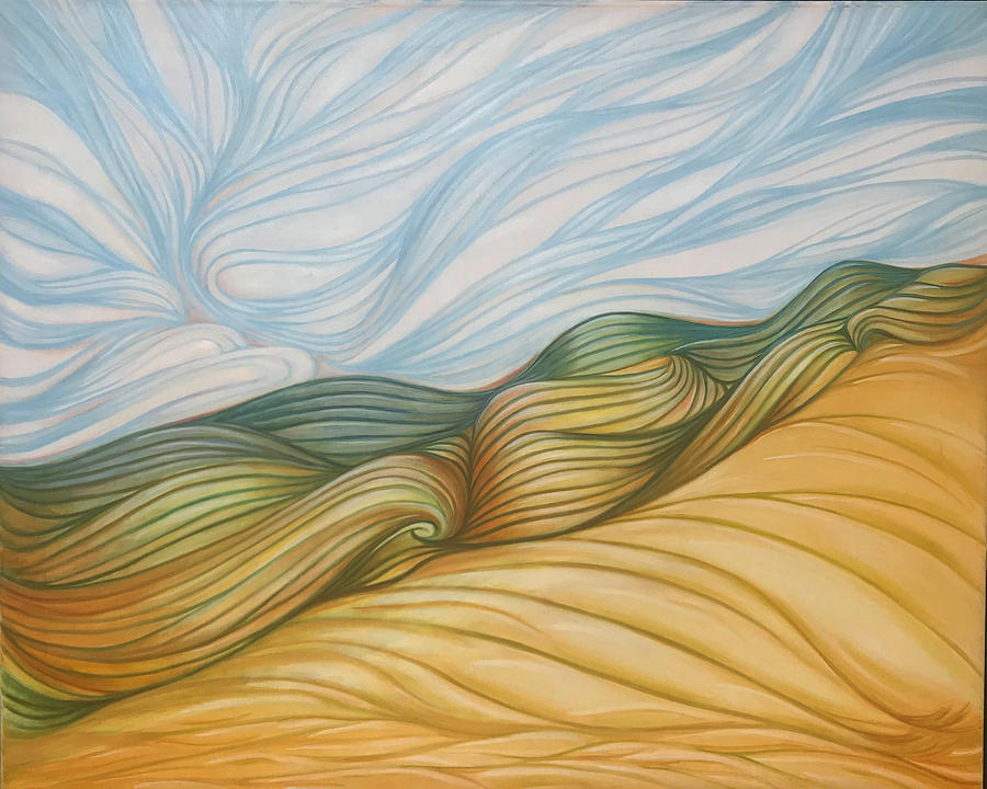 Desert Painting - Desert Waves by Susan Frazier