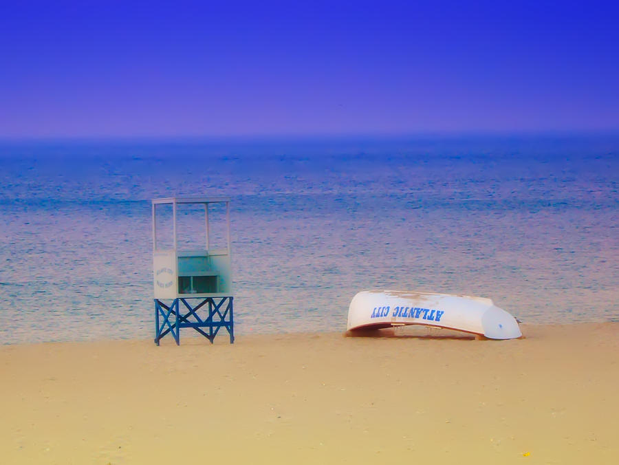 Atlantic City Photograph - Deserted Beach by Bill Cannon