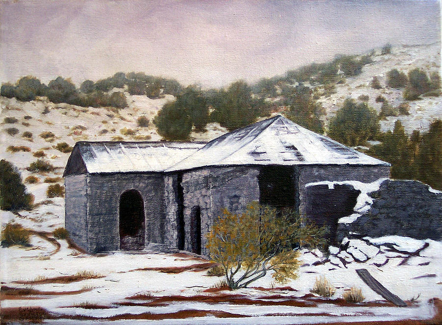 Winter Painting - Deserted Chloride Arizona by Evelyne Boynton Grierson