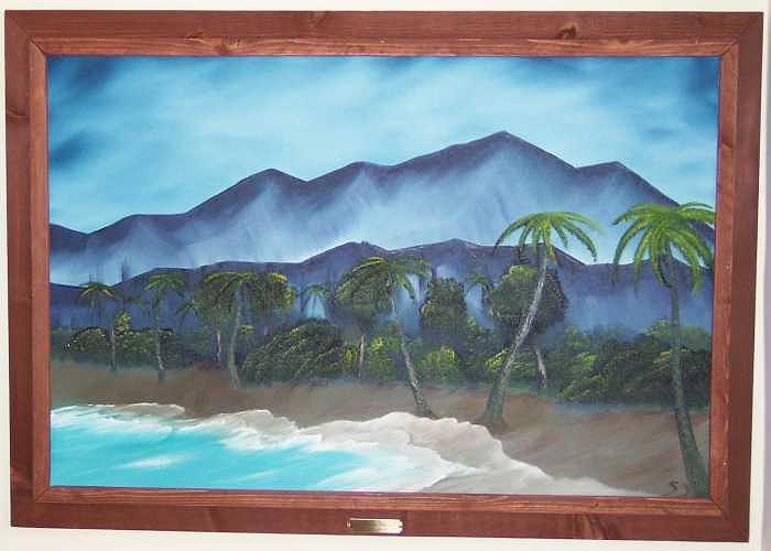 Beach Painting - Deserted Isle by Sheldon Kiroff