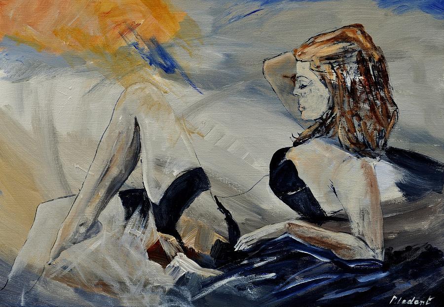 Female Painting - Deshabille 570150 by Pol Ledent