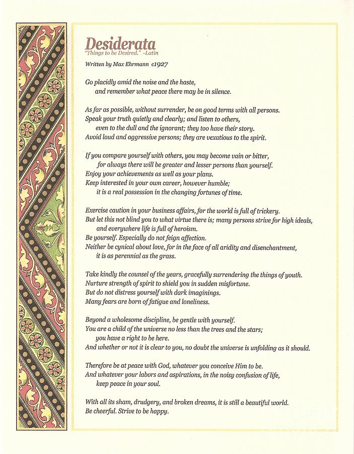 Desiderata Digital Art - Desiderata 1 by Desiderata Gallery