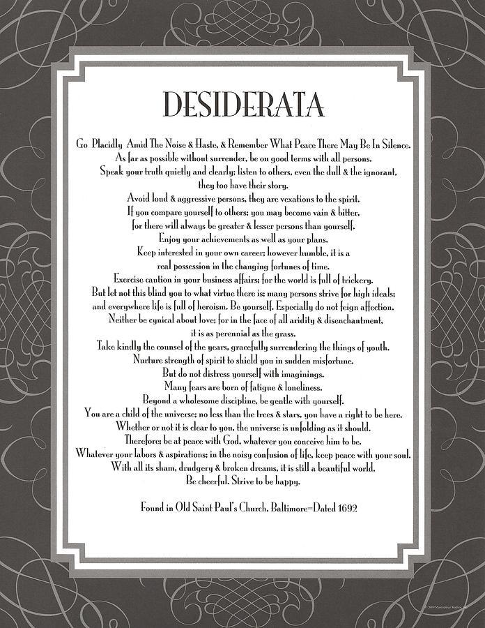 Desiderata Painting - Desiderata 5 by Desiderata Gallery