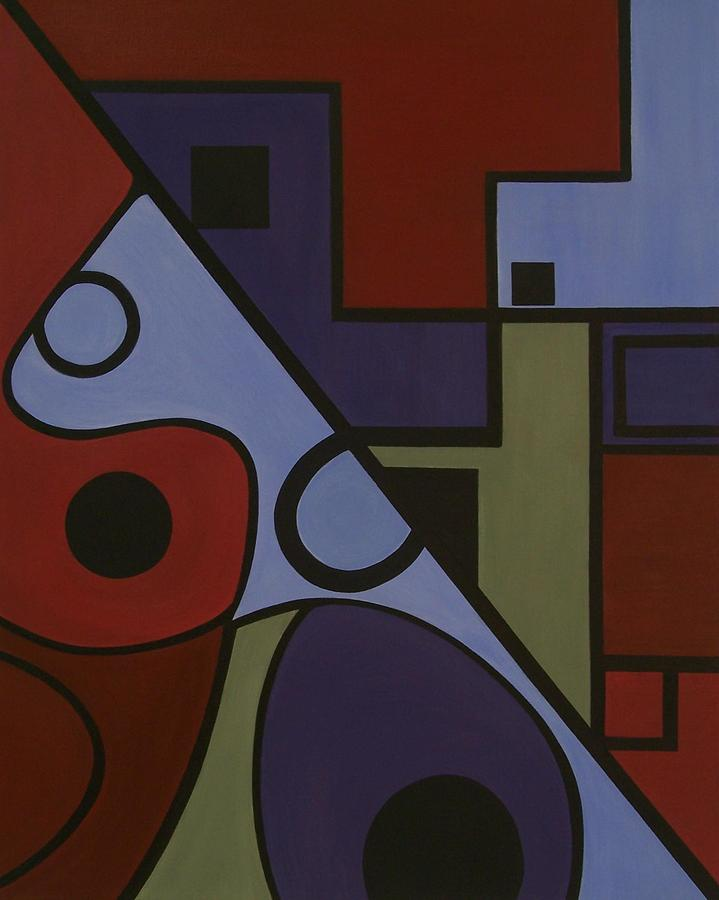 Abstract Painting - Design A by Sandy Bostelman