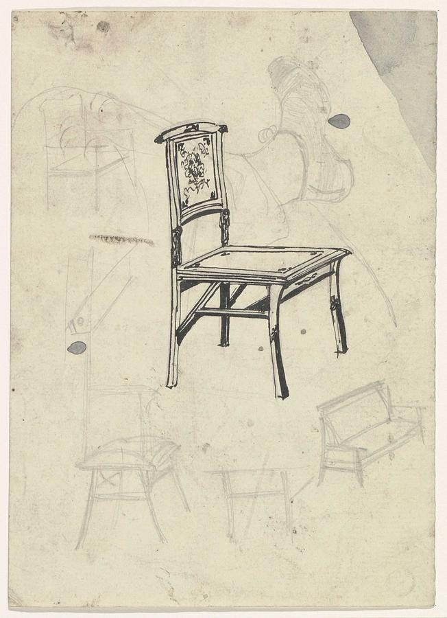 Pattern Painting - Design For A Chair, Carel Adolph Lion Cachet, 1874 - 1945 by Carel Adolph Lion Cachet