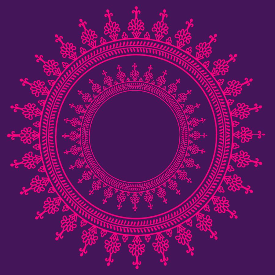 Pattern Digital Art - Design In Pink by Art Spectrum