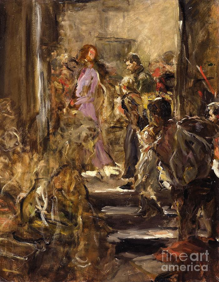 Fritz Von Uhde Painting - Design Sketch For The Altarpiece In Zwickau by Celestial Images