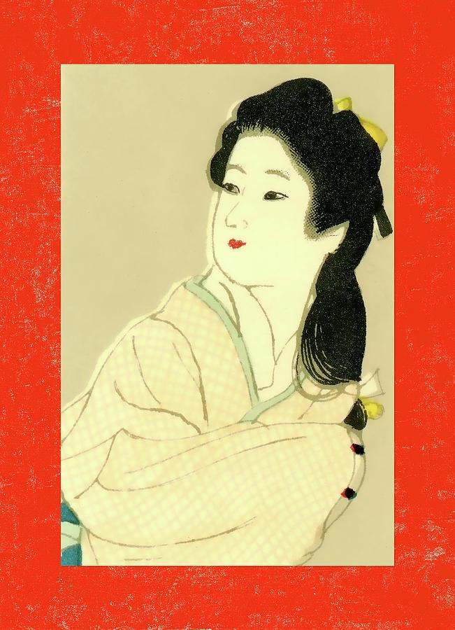 Japan Mixed Media - Designer Series Japanese Matchbox Label 132 by Carol Leigh