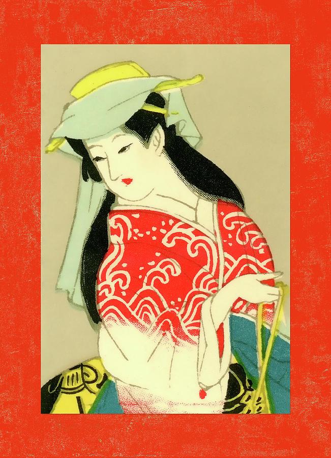 Japan Mixed Media - Designer Series Japanese Matchbox Label 135 by Carol Leigh