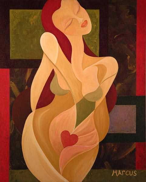 Female Painting - Desire by Leslie Marcus