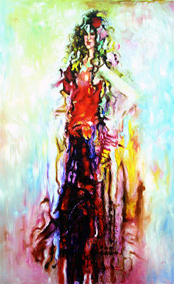 Woman Painting - Desire by Robert Basham