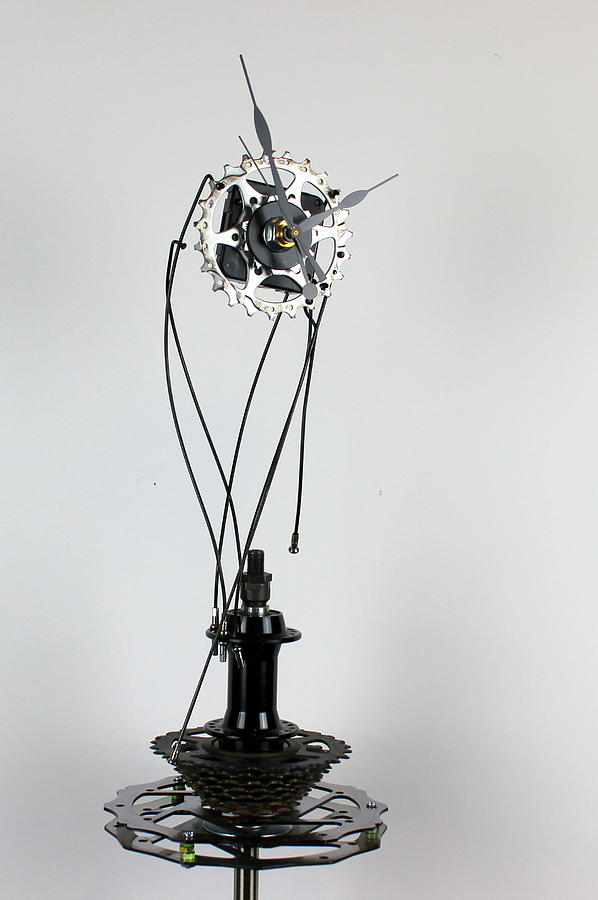 Clock Sculpture - Desk Clock 1.2 by Michael Ediza