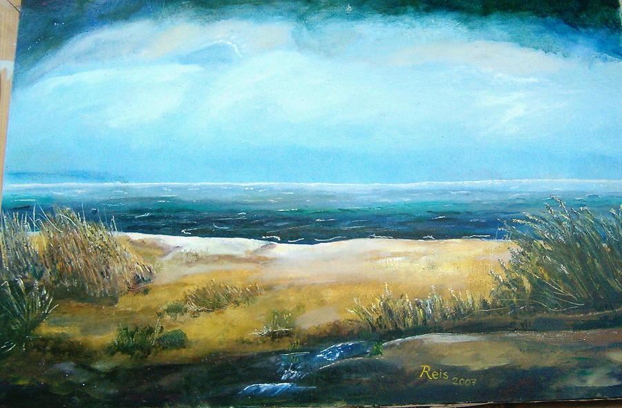 Landscape Painting - Desolate 1 by Fahrettin  Oktay