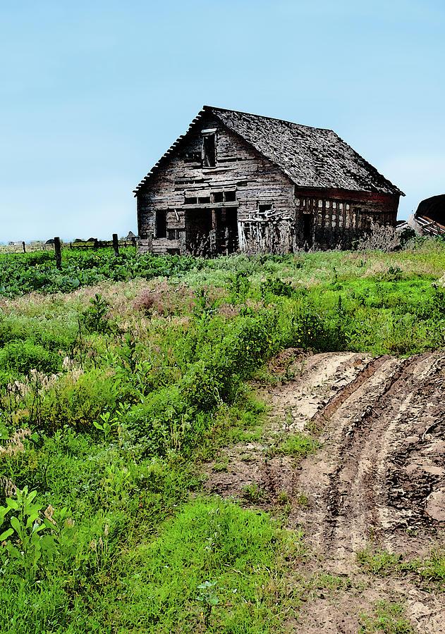 Barn Photograph - Desolate by Betty LaRue
