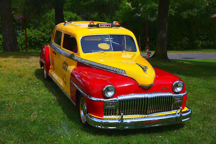 Car Photograph - Desoto Skyview Taxi by Garry Gay