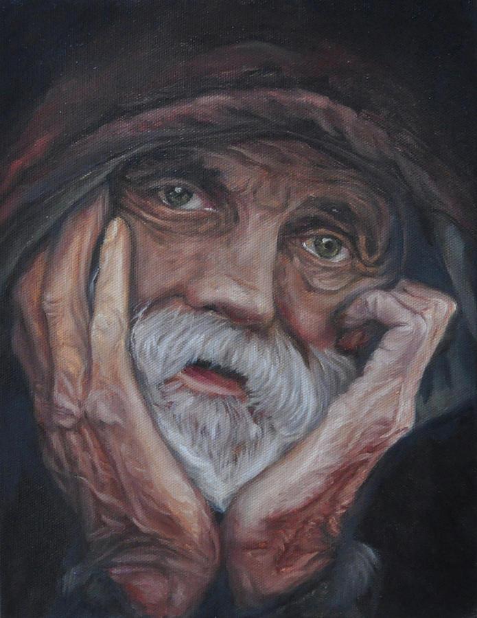 Poverty Painting - Despair by Tahirih Goffic