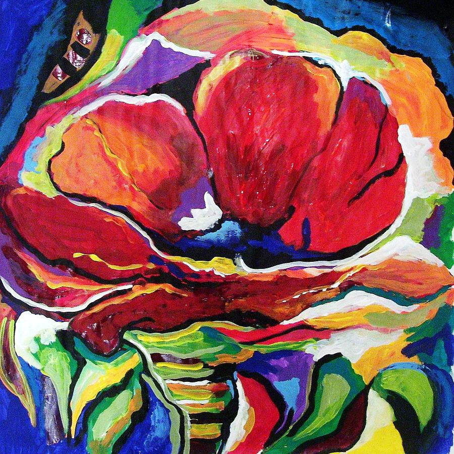 Floral Painting - Desperate For You by Gina Hulse