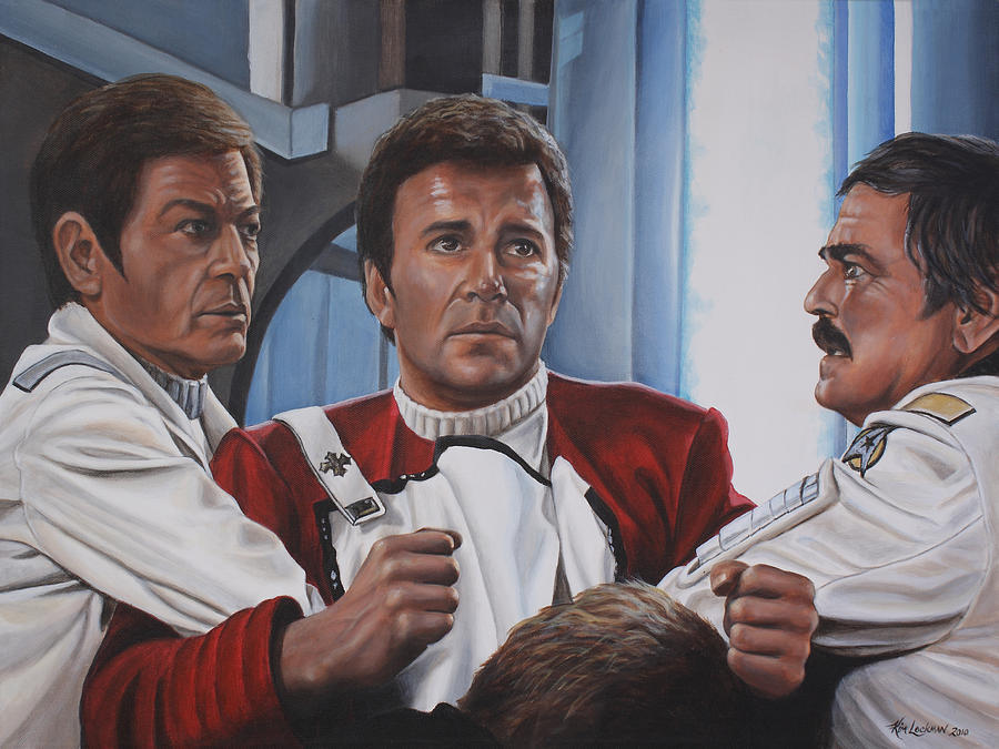 Star Trek Painting - Desperation In His Eyes by Kim Lockman
