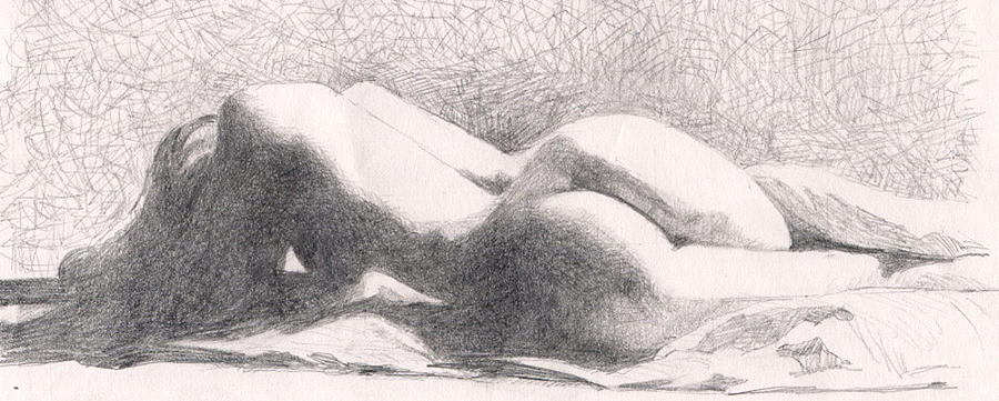 Nude Drawing - Despertar by Neal Smith-Willow
