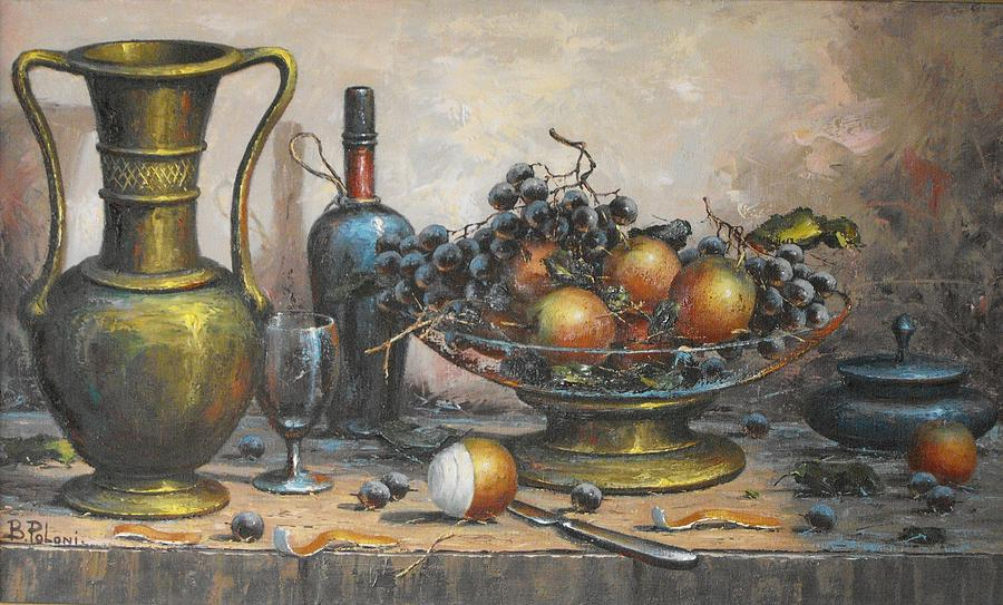 Dessert Table Painting by B Poloni