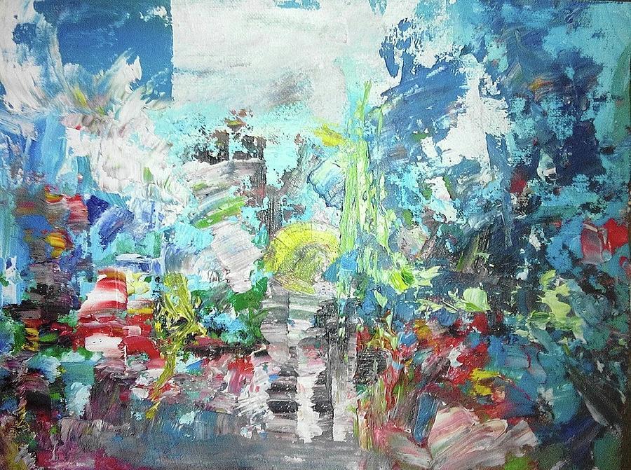 Abstract Painting - Destello De Civilizacion by Giovanny Florez