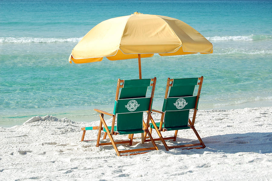 Ordinaire Destin Photograph   Destin Florida Beach Chairs Umbrella And Blue Waters By  Shawn OBrien