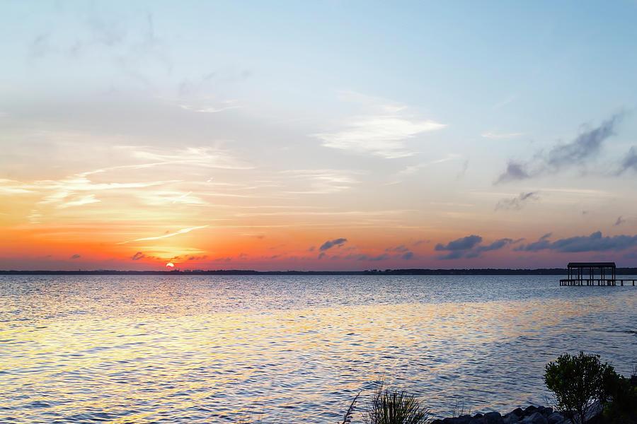 Destin Photograph - Destin Sunset Over The Bay by Kay Brewer