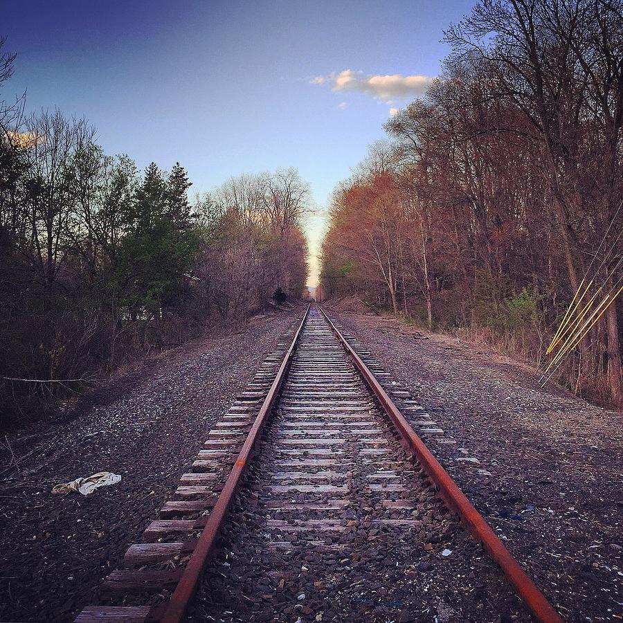 Railroad Photograph - One track Mind by Joseph Mari