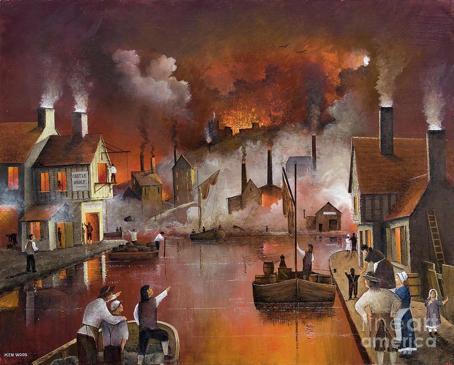 Destruction Of Dudley Castle by Ken Wood